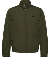 d1. the quilted windcheater doorgestikte jas groen gant