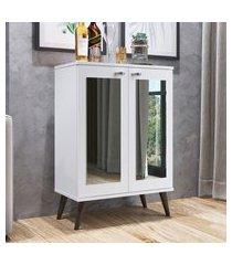 estante retrô completa móveis est130 2 espelhos 3 prateleiras