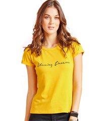 camiseta adulto femenino mostaza marketing  personal