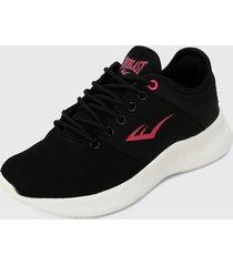 tenis lifestyle negro-rosa everlast propel