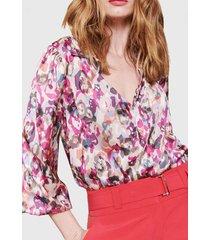 blusa italiana estampado beige liola