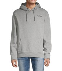 buffalo david bitton men's fernand logo cotton-blend hoodie - grey - size s