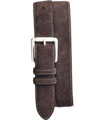 men's big & tall torino suede belt, size 46 - brown