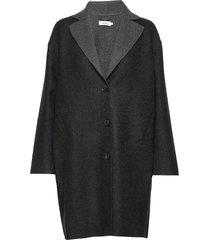 tessa coat wollen jas lange jas zwart stylein
