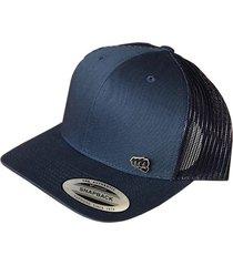 gorra fist con pin azul navy con malla atrás gfistcap21