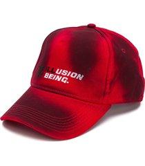 diesel tie-dye slogan embroidered cap