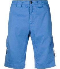 c.p. company multi-pocket bermuda shorts - blue