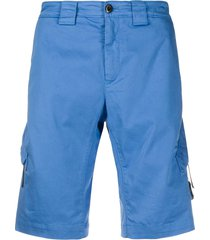 c.p. company multi-pocket bermuda shorts - blue