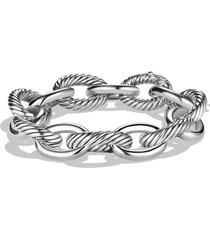 david yurman oval extra large link bracelet, size 9.5 in silver at nordstrom