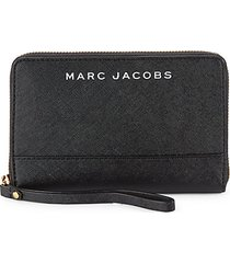 logo pvc zip-around wristlet