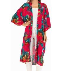 kimono tropical fucsia humana