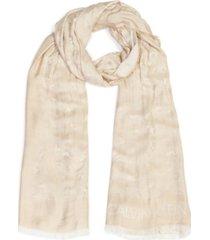 calvin klein leopard chambray wrap scarf
