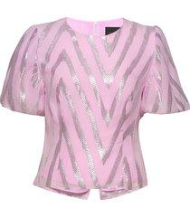 addison blouse blouses short-sleeved roze birgitte herskind