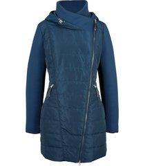 giacca con cappuccio e collo grande (blu) - bpc bonprix collection