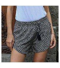 rayon shorts, 'weekend getaway' (indonesia)