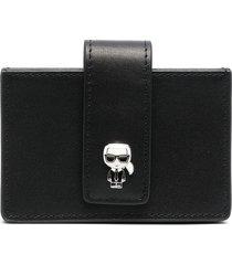 karl lagerfeld k/ikonik multi-pocket wallet - black