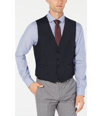 calvin klein men's x-fit stretch solid suit vest