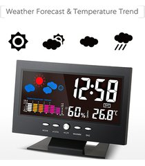 digital lcd reloj despertador termómetro higrómetro-