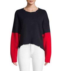 clarys colorblocked wool sweater