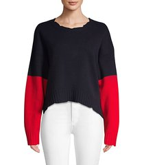 clarys colorblocked wool sweater