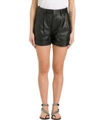 isabel marant étoile abot leather shorts