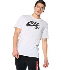 camiseta blanco-negro nike logo tee