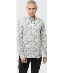 camisa casual print flores multicolor soviet