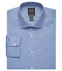 travel tech collection tailored fit spread collar houndstooth shirt - big & tall, by jos. a. bank