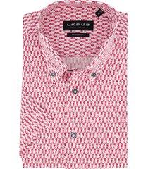 korte mouwen overhemd ledub rode print modern fit