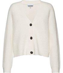 soft wool knit gebreide trui cardigan wit ganni