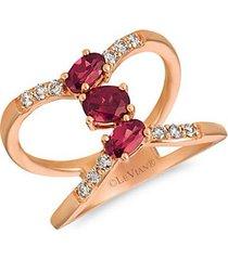 14k strawberry gold®, raspberry rhodolite® & nude diamonds™ heart ring