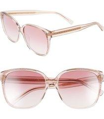 women's rebecca minkoff jane1 57mm sunglasses - pink