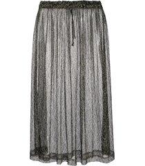 comme des garçons pre-owned 1997 metallic embroidery sheer skirt -