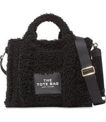 marc jacobs the traveller teddy tote bag - black