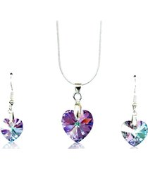conjunto lila swarovski crystals gloss crystal