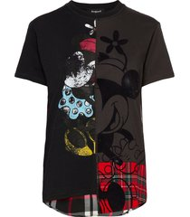 ts minniemix t-shirts & tops short-sleeved svart desigual
