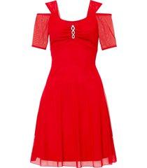 abito in mesh con applicazione (rosso) - bodyflirt