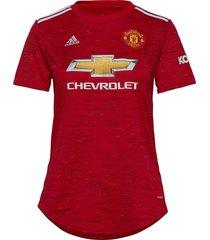mufc h jsy w t-shirts & tops football shirts rood adidas performance