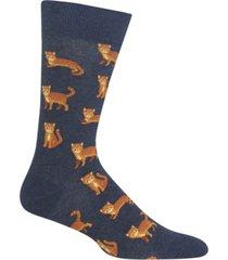 hot sox men's socks, cat