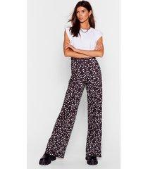 womens don't put us on the spot wide-leg pants - black 36