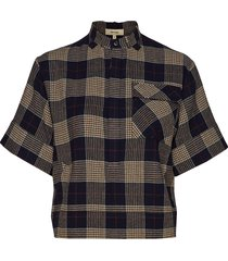 peyton check overhemd met korte mouwen multi/patroon whyred