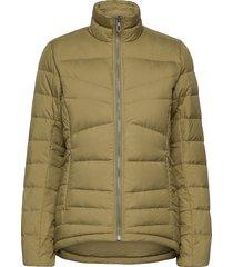 transition down jacket w outerwear sport jackets groen salomon