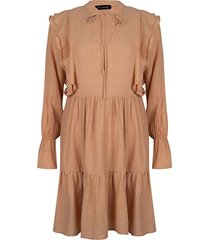 peachkleurige jurk maxie
