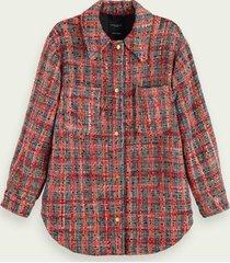scotch & soda wool-blend tweed shirt jacket