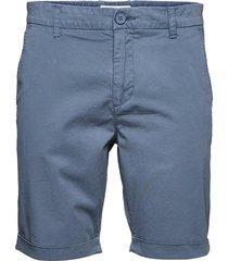 chuck regular chino poplin shorts - shorts chinos shorts blå knowledge cotton apparel