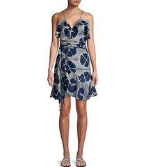 kalani floral wrap camisole dress