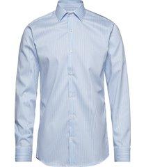 kadet | l/s - slim fit skjorta business blå seven seas copenhagen