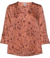 nell blouse blouse lange mouwen oranje twist & tango