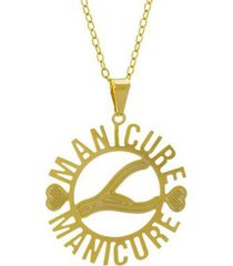gargantilha horus import manicure banhada ouro 18k feminina