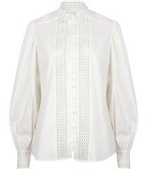 katoenen broderie blouse bijou  wit